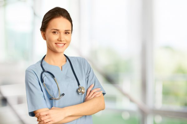 Nurse Doctor Healthcare And Medicine Isolated Women Female Scrubs